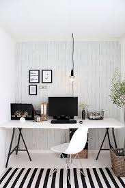 white home office. black and white home office e