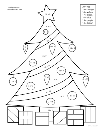Addition Color By Number Christmas Ipad Coloring Addition Color By ...