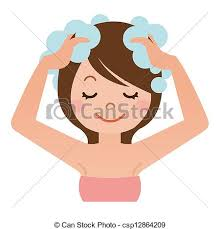 washing hair clipart. Perfect Washing Women Wash Your Head With Shampoo  Csp12864209 Intended Washing Hair Clipart A