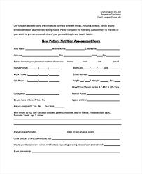 Sample Assessment Form Nursing Assessments Examples Samples Needs Assessment Patient Form