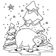 Small Picture Polar Bear Coloring Pages Winter Winter Coloring pages of