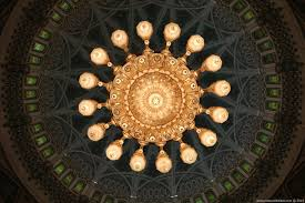 sixteen smaller chandeliers throughout the men s prayer hall complement the main attraction swarovski crystal chandelier in sultan qaboos grand mosque