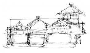 rough architectural sketches. Waterfront Home Architect Sketch On Priest Lake. Rough Elevation Architectural Sketches H