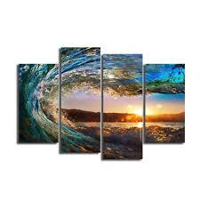 decorative wave wall panels huge decor oil