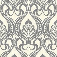 grandeco art nouveau damask pattern wallpaper art deco metallic glitter 113001