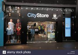 CityStore, the Manchester City English Premiership team store in Stock  Photo - Alamy