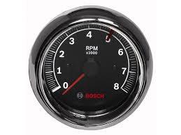 "3 ⅜"" black face tachometer chrome bezel 8 000 rpms sport ii 3 3 8 tachometer black face fst 7901"