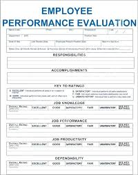 Free Evaluation Templates Employee Review Form Template Free Performance Evaluation Template
