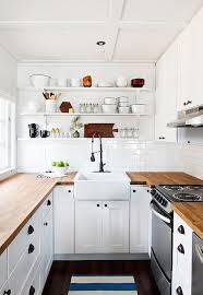 in her cabin kitchen sarah samuel of smitten studio installed ikea s affordable edge grain