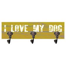 3 Hook Wall Mounted Coat Rack Artehouse LLC I Love My Dog 100 Hook Wall Mounted Coat Rack Reviews 57