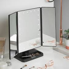 luxurious lighted mirror vanity of makeup with lights wayfair home and furniture