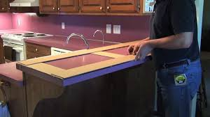 Measuring For Granite Kitchen Countertop How To Make A Countertop Template Youtube