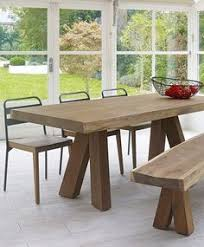 wooden dining tables and benches kenta design lombok