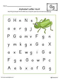 Alphabet Letter Hunt Letter G Worksheet Color