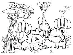 Wild Animal Coloring Pages Animals Colouring Pdf Sheet For Toddlers