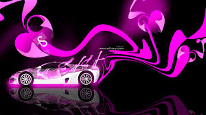 bubble gum abstract car