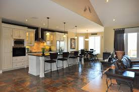 image of ranch style open concept house plans kitchen