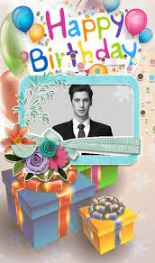 Birthday Cake Photo Frame Card 1mobilecom