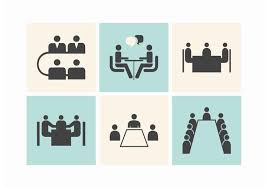 meeting free business meeting tables vector icons download free vector art