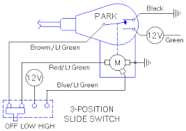 wipers two speed relays the diagram on the right shows a 4 terminal 3 position slide switch which does exactly the same electrical function as either the mgb switch or the