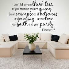 don t let anyone think less wall sticker e wall decal religion decor