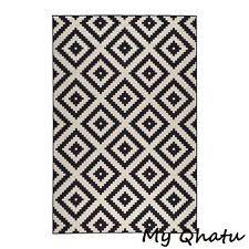 black and white rug ikea. ikea lappljung ruta rug low pile black white 9\u0027 10 and ikea