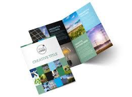 2 Folded Brochure Template Green Energy Technology Center Bi Fold Brochure Template 2