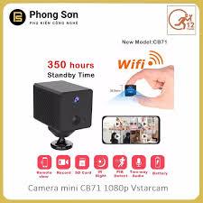 Camera Mini IP Vstarcam CB71 WiFi 2.0 1080P, Giám Sát Hành Trình Ô Tô, Xem  Từ Xa Bằng Điện Thoại ,Chính Hãng
