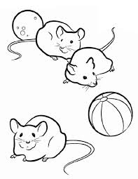 Small Picture Three Mice in Guinea Pig Coloring Page Color Luna
