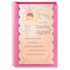 Baptism Cards A Lifetime Of Joys Baptism Card For Baby Girl