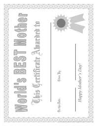 Certificate For Mom Coloring Page Printable Coloring Pages