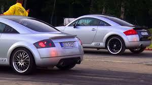 Audi TT 1,8T Quattro Sport VS Audi TT 1,8 Turbo 8N Coupe 1/4 Mile ...
