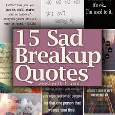 Sad Love Quotes Amazing 48 Sad Breakup Quotes