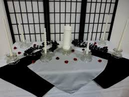 red and silver table decorations. Silver And Black Table Decoration Wedding Red Decorations W