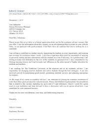 Cover Letter Academic Advisor Cover Letter Sample Academic Advisor