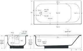 bathtub measurements standard tub dimensions non standard size bathtubs large