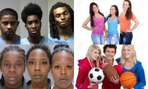 Teamd teens white teens black