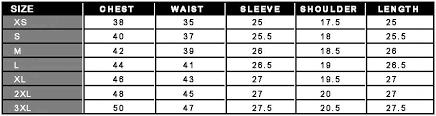 leather jacket size chart fashion leather jacket size chart
