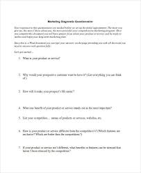 7 Marketing Research Questionnaire Examples Samples Examples