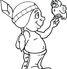 American Indian Coloring Pages Coloring Pages Coloring Page Boy