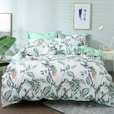 40 leaf print fl bedding set bed linen duvet cover kids brief style princess home textile bedclothes bedspread duvet cover kids bedding from