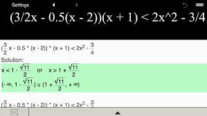 quadratic inequality calculator screenshot 4