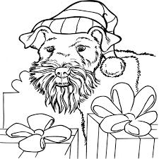 Kerst Hond Kleurplaat Page 1 Voyceeu