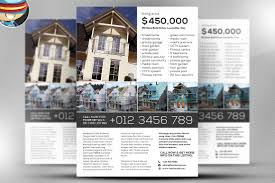 simple real estate flyer template flyer templates on creative market