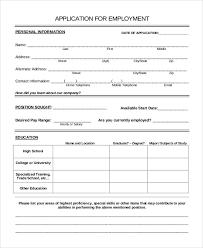 Printable Sample Job Applications Sample Job Application Template Sample Resume Resume Job