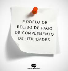 Modelo De Recibo Modelo De Recibo De Pago De Complemento De Utilidades
