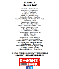 Kerrang Radio Chart News Highlights Eofe On Kerrang Radio Team Rock Radio