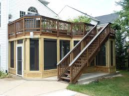 screened rooms american exteriors masonry deck design with screen porch below columbus under screened porches decks
