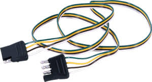 u haul 4 way flat wiring car and trailer ends wiring harness with 4-pole flat trailer connector at 4 Flat Trailer Wiring Harness