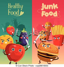 Healthy Vs Unhealthy Food Chart Healthy Food Versus Unhealthy Food